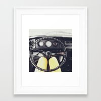 From Behind The Wheel - I Framed Art Print