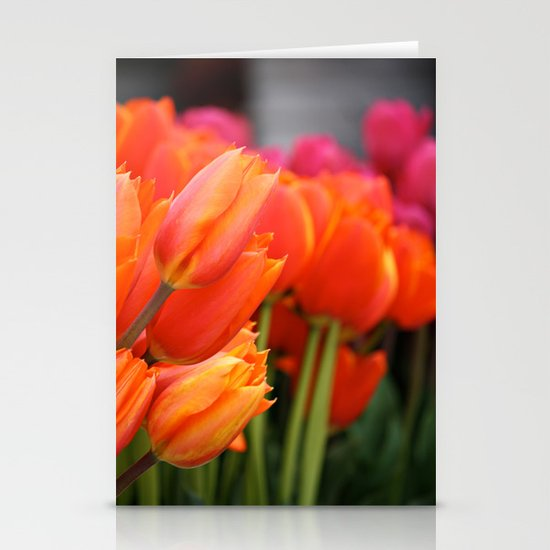 Cheery Tulips Stationery Card