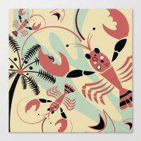 Lobster Rhumba Canvas Print