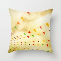 Flags & Color Throw Pillow