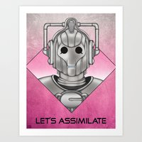 Cyberman - Let's Assimilate Art Print