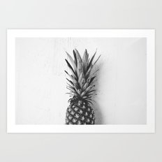 Black and white pineapple Art Print