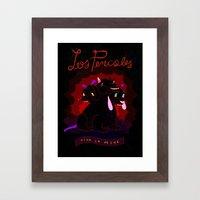 VIVA LA PECHE Framed Art Print