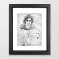 JON AND GHOST Framed Art Print