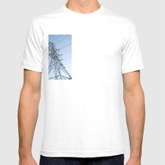 sky Mens Fitted Tee SMALL White