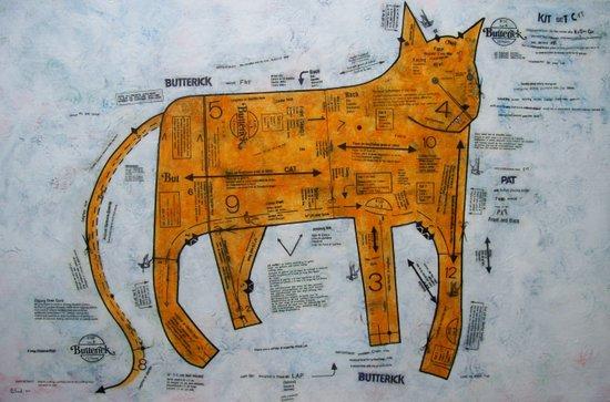 KIT SET CAT Art Print