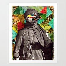 Color Face Art Print