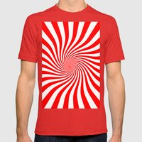Swirl (Red/White) Mens Fitted Tee Red SMALL