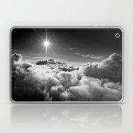Clouds Black & White Laptop & iPad Skin