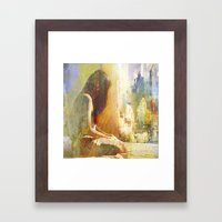And You Are Not Here Wit… Framed Art Print