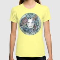 Cyan Womens Fitted Tee Lemon SMALL