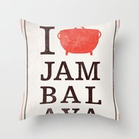 I Heart Jambalaya Throw Pillow