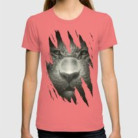 Tiger Womens Fitted Tee Pomegranate SMALL