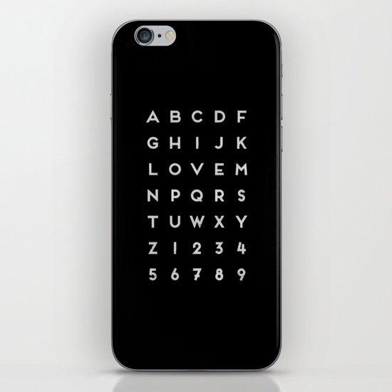 Letter Love - Black iPhone & iPod Skin