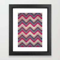 Chevron Pattern_purple, … Framed Art Print