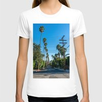 los angeles T-shirts featuring Los Angeles by Luke Callow