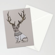 Deer Frenchie  Stationery Cards