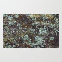 Granite And Lichen  Rug