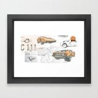Mercedes-Benz C 111 collage Framed Art Print
