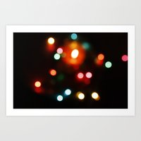 Blurred lights Art Print