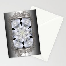 White Arctic Queen Kaleidoscope Stationery Cards