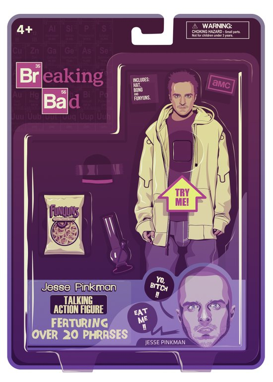 BREAKING BAD ACTION FIGURES - Jesse Canvas Print