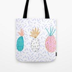 Pineapple. Illustration, print, pattern, fruit, design, fun, Tote Bag