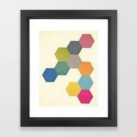 Honeycomb I Framed Art Print
