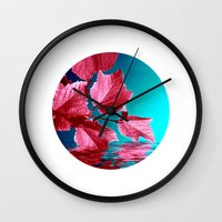 red wine IX Wall Clock