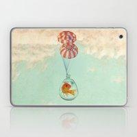 parachute goldfish Laptop & iPad Skin