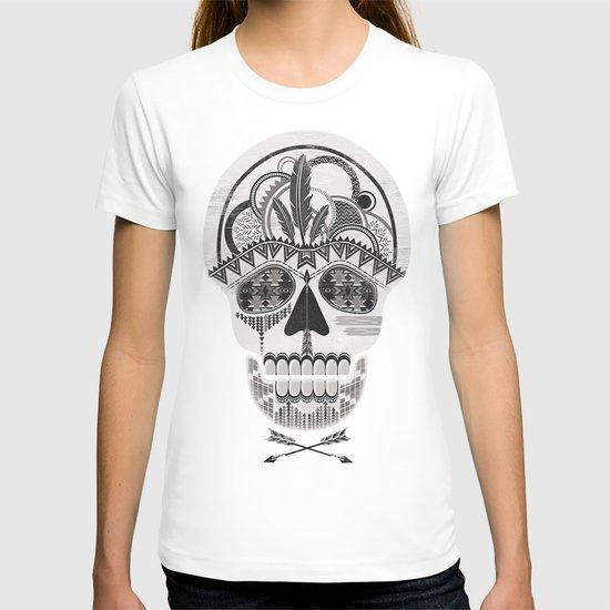 AZTEC SKULL B/W  T-shirt