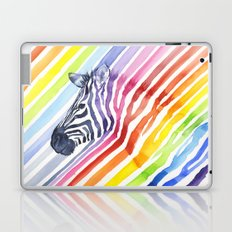Rainbow Zebra Pattern (square) Laptop & iPad Skin