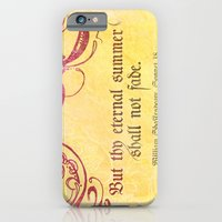 Thy Eternal Summer Shall Not Fade - Sonnet 18 - Shakespeare Love Quotes iPhone 6 Slim Case