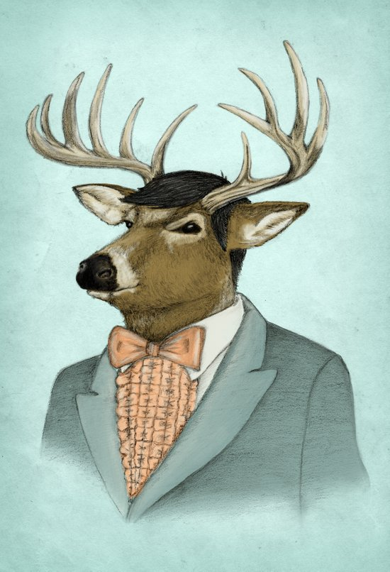 Going Stag Art Print