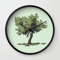 Life is Beautiful Olive Tree Wall Clock
