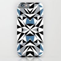 iPhone & iPod Case featuring Abstract Kite Black and Blue by Project M