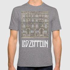 Physical Graffiti. Zeppelin lyrics print. Mens Fitted Tee Tri-Grey SMALL