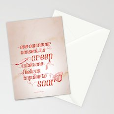Soar - Illustrated quote of Helen Keller Stationery Cards