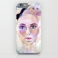 iPhone & iPod Case featuring self portrait by Ela Caglar