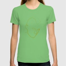 One Line Taxi Driver Womens Fitted Tee Grass SMALL