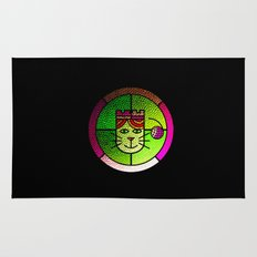 Stained Glass Cat Rug