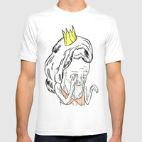 Drama Queen Mens Fitted Tee White SMALL