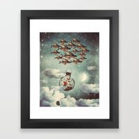 The Rose That Wanted To … Framed Art Print