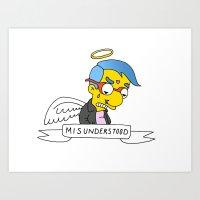 misunderstood milhouse Art Print