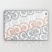 Orange Gradient Swirls Laptop & iPad Skin