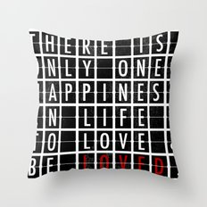 Destination Sign Love Throw Pillow