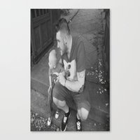 lou and daddy Canvas Print