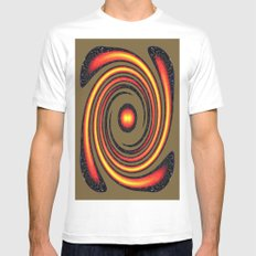 Spiral Fire in abstract Mens Fitted Tee White SMALL