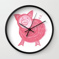 Little Piggy! Wall Clock