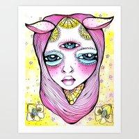 Mildred Was Stuck Betwee… Art Print